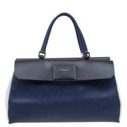 Furla Tri Color Leather Patty Tote