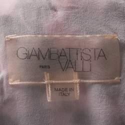 Giambattista Valli Floral Lace  Cutout Waist Detail Plisse Maxi Dress M