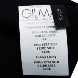 Giambattista Valli Black Silk Wool Sleeveless Pencil Dress S