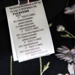 Giambattista Valli Black Floral Jacquard & Lace Mini Dress L