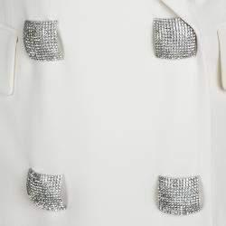 Gianfranco Ferre Cream Cutout Back Detail Blazer and Maxi Skirt Suit S