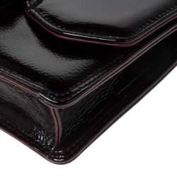 Gianfranco Ferre Burgundy Patent Leather Satchel