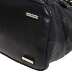 Gianfranco Ferre Black Leather Satchel