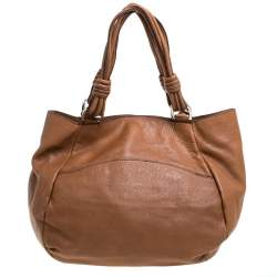 Gianfranco Ferre Brown Leather Shoulder Bag