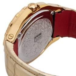 Gianfranco Ferre Gold Tone Stainless Steel 9040J Limited Edition Diamond Unisex Wristwatch 44MM