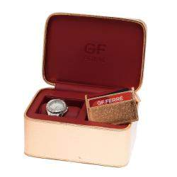 Gianfranco Ferre Mirror Stainless Steel 9040J Limited Edition Diamond Women's Wristwatch 44MM