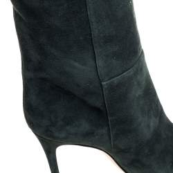 Gianvito Rossi Green Suede Knee High Boots Size 41