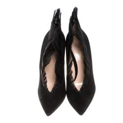 Gianvito Rossi Black Suede Divine Pointed Toe Pumps Size 40