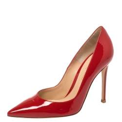 Gianvito Rossi Red Patent Leather Gianvito Pointed Toe Pumps Size 36