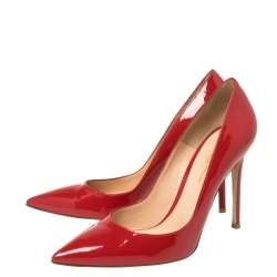 Gianvito Rossi Red Patent Leather Pointed Toe Pumps Size 40