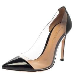 Gianvito Rossi Black Patent Leather and PVC Plexi Pumps Size 36
