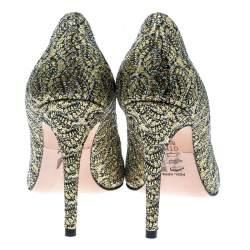Gina Metallic Gold Glitter Pumps Size 38.5