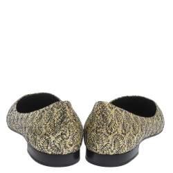Gina Metallic Gold Glitter Pointed Toe Ballet Flats Size 40
