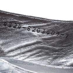 Gina Silver Chrome Python Slingback Sandals Size 40