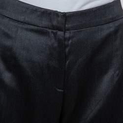 Giorgio Armani Dark Grey Wool & Silk Straight Leg Trousers M