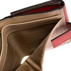 Giorgio Armani Scarlet Leather Trifold Wallet