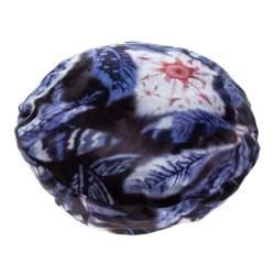 Giorgio Armani Multicolor Abstract Leaf Print Silk Satin Beret L