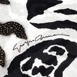Giorgio Armani Multicolor Zebra Pattern Silk Scarf