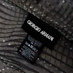 Giorgio Armani Grey Printed & Embellished Stole