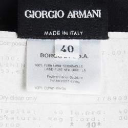 Giorgio Armani Black Wool High Waist Pencil Skirt S