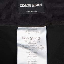 Giorgio Armani Black High Waist Velvet Pants M