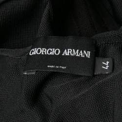 Giorgio Armani Black Knit Twist Front Top M