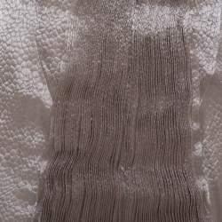 Giorgio Armani Beige Pleated Front Detail Sleeveless Midi Dress S