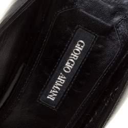 Giorgio Armani Black Patent Leather Pumps Size 40