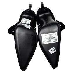 Giuseppe Zanotti Black Velvet Embellished Ankle Boots Size 41