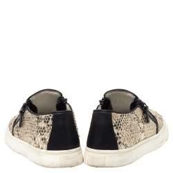 Giuseppe Zanotti Multicolor Python Embossed Leather Devon Slip On Sneakers Size 40
