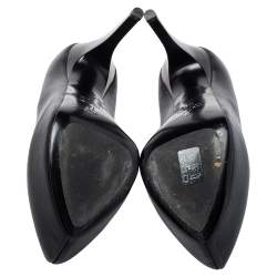Giuseppe Zanotti Black Leather Platform Pumps Size 36.5