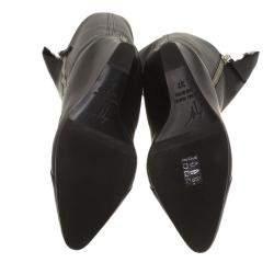 Giuseppe Zanotti Black Leather and Fur Lining Guaz Knee Boots Size 37