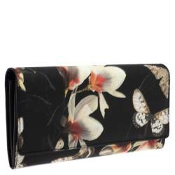 Givenchy Multicolor Floral Print Leather Flap Continental Wallet