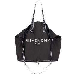 Givenchy Black Nylon Folding Tote Bag