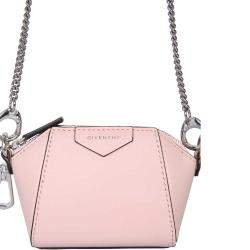 Givenchy Pink Leather Antigona Mini Crossbody Bag