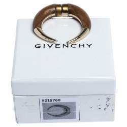 Givenchy Horn Motif Gold Tone Single Stud Magnetic Earring