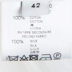 Givenchy White Silk Trim Ruffle Detail Sleeveless Top L