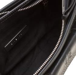 Givenchy Black Leather Pocket Shoulder Bag