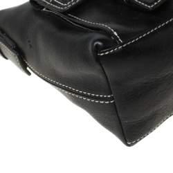 Givenchy Black Leather Twin Pocket Shoulder Bag