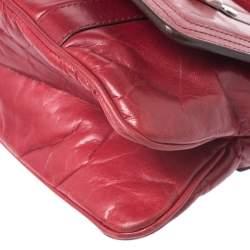 Givenchy Red Leather Logo Shoulder Bag
