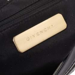 Givenchy Grey/Black Monogram Canvas and Leather Shoulder Bag