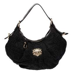 Givenchy Black Monogram Canvas and Leather Hobo