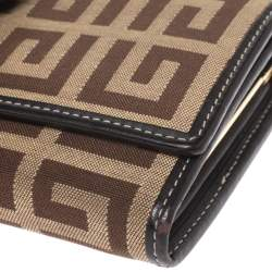 Givenchy Beige/Brown Monogram Canvas and Leather Continental Wallet