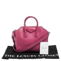 Givenchy Pink Leather Mini Antigona Satchel