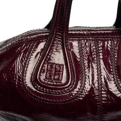 Givenchy Purple Patent Leather Small Nightingale Top Handle Bag