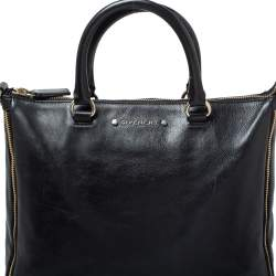 Givenchy Black Leather Zipped Detail Tote