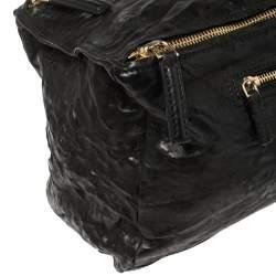 Givenchy Black Crinkled Leather Large Pandora Bag