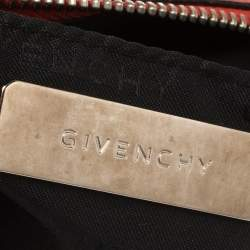 Givenchy Coral Orange Leather Chain Baguette Bag