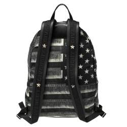 Givenchy Black American Flag Print Nylon Backpack