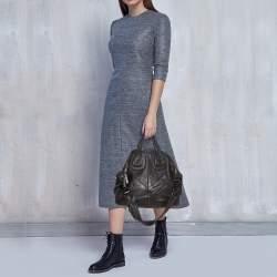Givenchy Black Leather Medium Nightingale Satchel